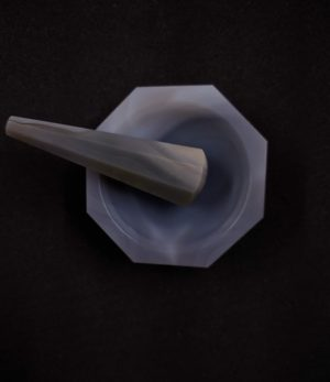 Gray Agate Mortar Pestle