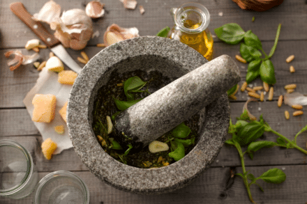 Use of Mortar and Pestle
